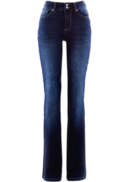 Super-strečové push-up džínsy s pohodlným pásom