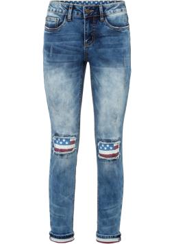 Skinny džínsy s vlajkou