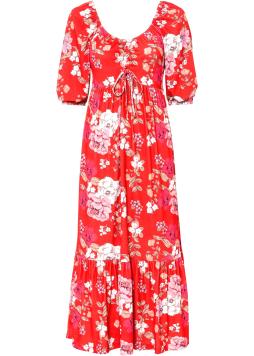 Kvetované šaty so šnurovaním
